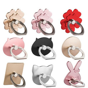 Wholesale New designs Universal Cell Mobile Phone Finger Ring Holder Degree Grip Stand Metal Lazy Buckle For Smartphone Bracket with gold bag