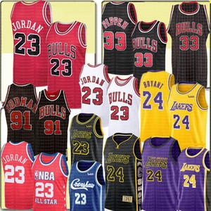 NCAA 2 4 Bryant LeBron 23 James Michael Scottie 33 Pippen Jersey Anthony 3 Davis Kyle 0 Kuzma Dennis 91 Rodman Bull Jerseys
