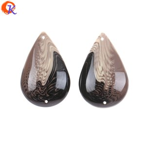 Wholesale MM Resin Beads Jewelry Accessories Hand Made Marble Effect Bead Drop Shape DIY Earring Findings