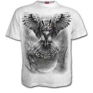 Wholesale Spiral direct WINGS of WISDOM T Shirt White Halloween Tattoo Owl Darkwear