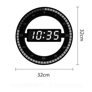 Wholesale Digital LED Wall Clock Modern Design Mute Night Light Creative Electronic Secret Stash Minimalist Relogio Parede Wall Watch
