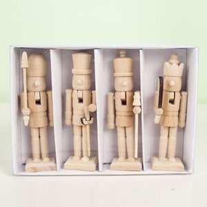 Wholesale doll soldier resale online - Wooden Walnut Soldiers Doll Ornaments Holiday Gift Doll Ornaments For Christmas Wedding Birthday Christmas Gift ZC1393