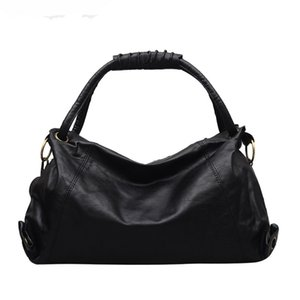 Wholesale Trong Women s Simple Slouchy Tote Bag Big Capacity Oversized Classic Minimalist Black Color Retro Shoulder Handbag