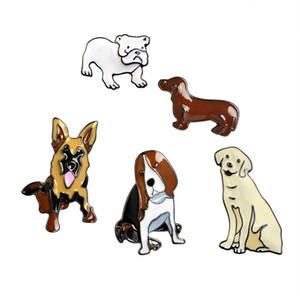 Dog Brooch Bulldog Dachshund Golden Retriever Metal Badges Hard Enamel Pin Collection Jewelry Gift Backpack Handbag Denim Coat Accessory