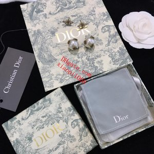 Wholesale 2019 high quality jewelry Earring Jewelry Accessories Brass bee pearl diamond stud earrings lover gift jewelry women earrings AI