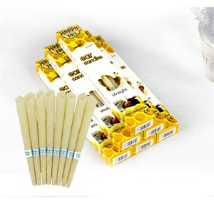 Wholesale cone candles resale online - 2pcs Happy Ear Candles Ear Wax Clean Removal Natural Beeswax Propolis Indiana Therapy Fragrance Candling Cone Candle Relaxation