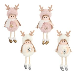 Wholesale Lovely Angel Girls Plush Toy Children Gift Doll Hanging Dolls Pendant Fit Indoor Christmas Tree Decoration Styles yw E1