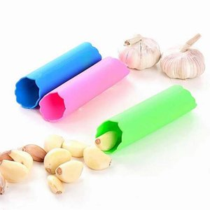 Wholesale silicone kitchen tools garlic peeler for sale - Group buy Silicone Garlic Peeler Peel Easy Useful Kitchen Tools Non toxic Safety Gadget Garlic Stripper Tube Peeling Garlic Peeling