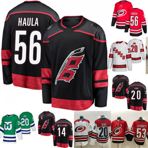 Mens 56 Erik Haula Jersey Carolina Hurricanes Sebastian Aho Justin Williams Nino Niederreiter Andrei Svechnikov Jeff Skinner Staal Jerseys on Sale