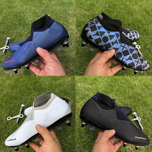 Wholesale high quality soccer cleats resale online - Best quality Phantom VSN Elite DF SG Football Boots black Lux royal game over fully Charged mens Soccer Cleats high Ankle Size39