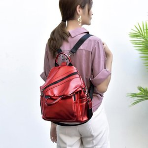 Wholesale Multifunction Backpack Women Leather Bling Backpack Girls Small School Bag Various Methods Back Packs Women Cool Daypack