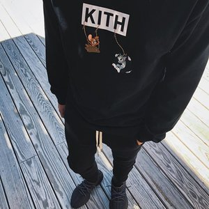 Wholesale TS ss Kith X Tom Friends Cheese HOODIE Sweater Stree Sweatershirt Mens Womens Couples Designer Luxury Hoodies Black Red Yellow TSYSWY182