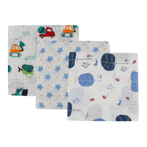 Wholesale Baby Blanket Cotton Breathable Baby Blanket Cartoon Print Mutli functional Muslin set