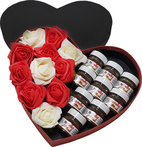 Chavin Love And Nutella Box - Roses and Mini Nutella jars Yap45 Ship from Turkey HB-002840233 on Sale