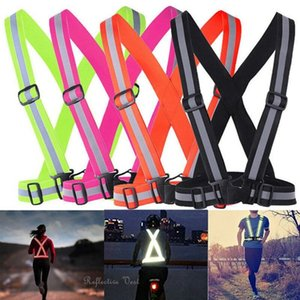 Adjustable Security Safety Reflective Vest Belt Stripe Straps Night Running Jogging Biking Cycling Reflective Strap