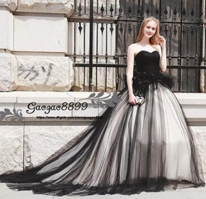 Elegant black Arabic A-Line Evening Dresses 2019 sweetheart sleeveless tulle Ruffles sexy Formal celebrity Prom Party Dresses custom made on Sale