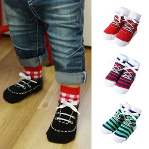 Baby Socks 1 Pairs Infant Baby Girls Boys Stripe Comfortable Socks Anti-Slip Slipper