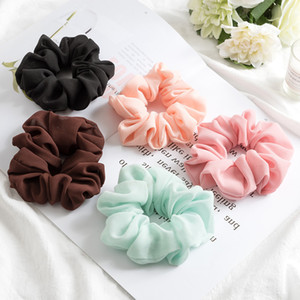 Wholesale 20pcs Fashion Bobble Solid Color Sports Dance Elastic Headband Rope Women Hair Band Ring Scrunchie Ponytail black pink blue