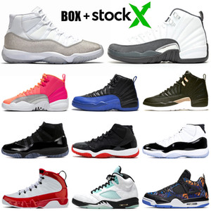 Wholesale stock x basketball shoes s HOT PUNCH s Concord Bred Metallic Silver s s Gym Red s women mens trainers Sport Sneakers