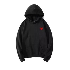 Wholesale Cdg Play Commes lovely Family Matching Hoodies Heart Mom father Matching Sweatshirt des garcons Family Matching Hoodies baby jacket