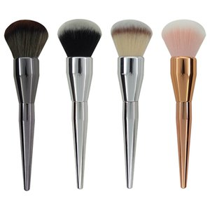Wholesale round face hair for sale - Group buy Very Big Beauty Powder Brush Makeup Brushes Blush Foundation Round Make Up Large Cosmetics Aluminum Brushes Soft Face Makeup