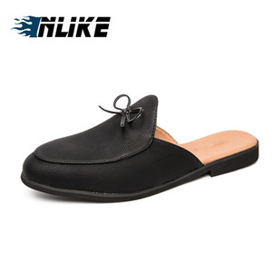 Wholesale Men Half Slippers Slip On Outdoor Mens Casual Shoes Slides Man Driving Loafers