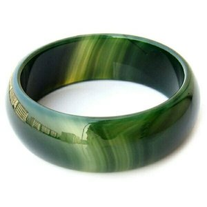 Wholesale Pure Natural Green Agate Bracelet In BrazilJewelry Gift Jade Bangle For Women