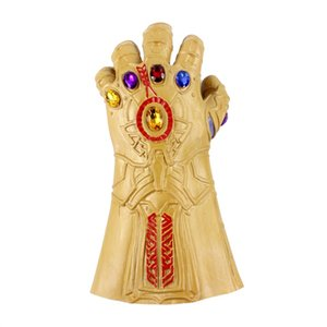 Hot Sale Avengers 4 Endgame Mask And Gloves 2019 New Children's Adult Halloween Cosplay Natural Latex Infinity Gauntlet Toys Glow