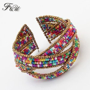 Wholesale F U Europe And The United States Bohemia Beaded Bracelet Openings B236
