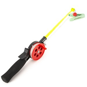Wholesale Kids Children ABS Fishing Rod Mini Ice Fishing Pole With Reel Professional EVA Handle 33.5cm Durable Tackle