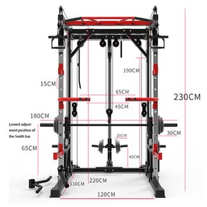 academia profissional multi venda por atacado-Professional Squat rack de estrutura Multi funcional Força Grande Muscle Comprehensive Training Gym Fitness Equipment