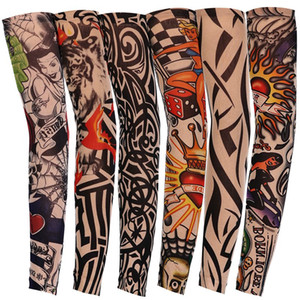 Nylon Elastic Temporary Tattoo Sleeve Outdoor Driving Riding Arm Anti-UV Sunscreen Sleeve Breathable Fashion Designer Arm Stockings HHA760