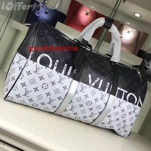 2020 M43412 New Real Leather Rainbow White black 50 Luggage Tote Bag Messenger Shoulder Bags