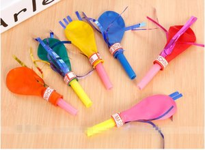 Wholesale New Random Color Tassel Whistle Balloons Baby Kids Toys Happy Birthday Party Wedding Funny Gifts Decorations