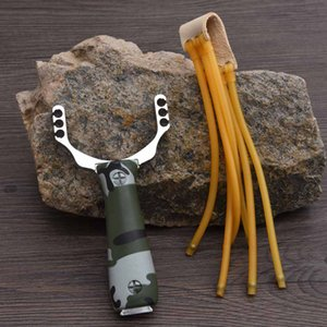 Outdoor Slingshot Three Card Latex Tube Rubber Band Bow Zinc Alloy Woodgrain Card Sports Outdoor Recreation Tools