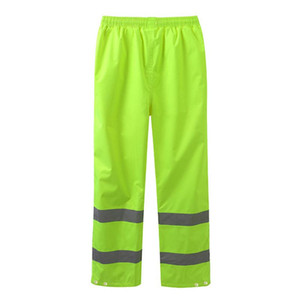 Waterproof Thickened Oxford Cloth Cycling Rain Pants Reflective Traffic Road Pants Fluorescent Riding Trousers Size M-XXXL on Sale