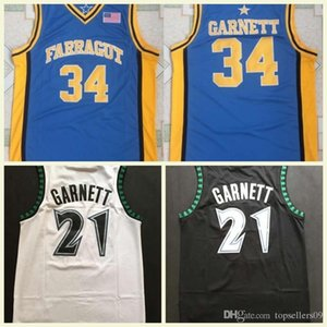 Wholesale Best Quality 21 Kevin Garnett Jerseys White Black Blue Stitched Basketball Shirts Mens 21 Kevin Garnett College Basketball Jerseys