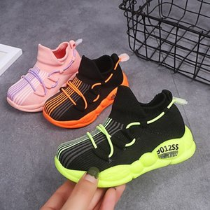Wholesale Autumn Children Sneakers Catamite Net Girls Boys Woman Sport Shoes Kids Lights Girl Network Noodles Leisure