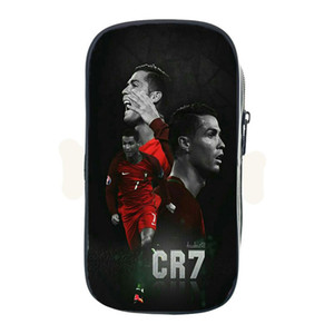 Wholesale Hot Star Cristiano Ronaldo CR7 Pencil Case Makeup Bags Fashion Large Capacity Stationery Bag Students Boy Girl School Supplies