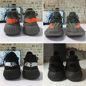 38ee95ac3 Static 350 2.0 Kids Children Youth Cream All White Infant Bred Beluga Black  toddlers Kany West V2 Running Shoes Sport 350s Sneaker
