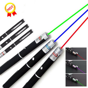 Wholesale 5MW nm Green Laser Pen Black Strong Visible Light Beam Laserpoint colors Powerful Military Laser Point Pen