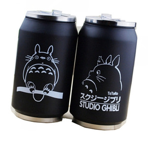 Wholesale 2019 cartoon vacuum thermos mug my neighbor totoro can of cola stainless steel anime figures cup with Japanese hayao miyazaki design