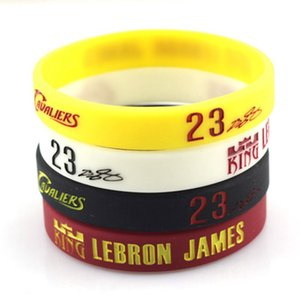 Wholesale Sports Silicone Bracelet Famous Basketball Star James Harden Irving Signature Wristband Fashion Jewelry Fan Memorial Gift