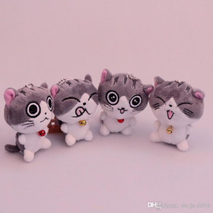 Cat Meow Collection Cheese cat Plush toys cartoon cat Stuffed Animals 8cm  10cm for children Christmas gift home dec key chain