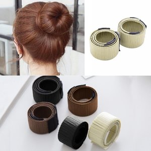Wholesale Twist Travel Patchwork Roller Hair Maker Band Former French Styling Bun Tool Maker Party Office etc Hair Casual Donut