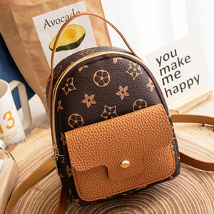 Fashion Casual Leather Shoulder Bag Women Mini Backpack Little Kids Bag Packs Small Mini Backpack Students Bags Cute Small Bags