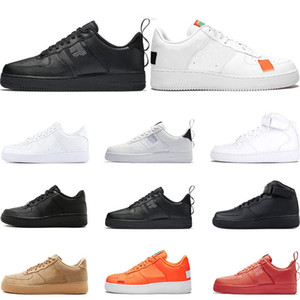 Wholesale Hot Mens Women Flyline Casual Shoes Sports Skateboarding Ones Shoes Cut Black White Wheat Trainers Sneakers size