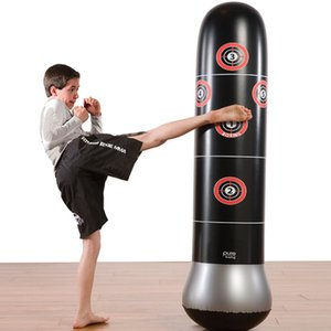 Wholesale 150cm Inflatable Free Stand Tumbler Boxing Training Punch Bag Bounce Back Air inflation Punchbag for Children toys gift