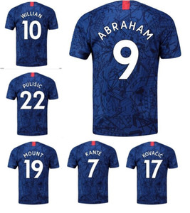 19-20 Customized home 10 Willian 19 Mount 22 PULISIC 20 Hudson-Odoi 9 Abraham Thai Quality Soccer Jerseys,Custom 7 Kanté 3 MARCOS A. Jersey on Sale