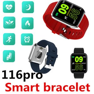 Wholesale ID116 pro Smart bracelet Watch band Waterproof Bluetooth Heart rate Blood pressure Pedometer Big battery Sports bracelet Calories Retail